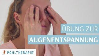 Übung zur Augenentspannung