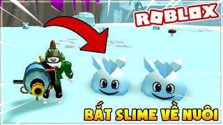 I USE THE GUN LIKE WATER BOTTLE TO CATCH THE SLIME | Slimeulator (Roblox)