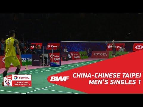 Thomas Cup | MS1 | CHEN Long (CHN) vs CHOU Tien Chen (TPE) | BWF 2018