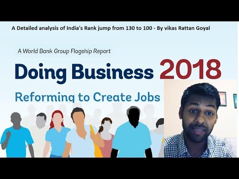 In Depth Analysis of Ease of Doing business Ranking jump from 130 to 100 - VRG
