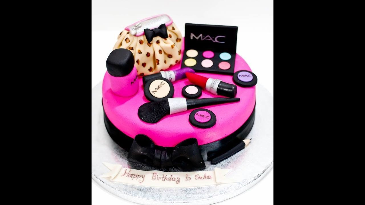 Mac Makeup Cake Part 2 Youtube