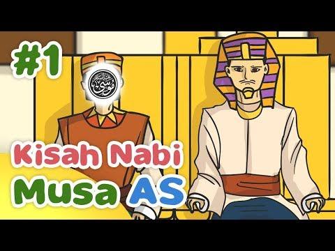 Kisah Nabi Musa AS Menjadi Anak Angkat Raja Firaun - Kartun Anak Muslim Indonesia