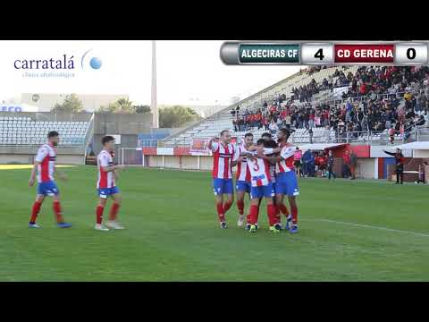 Resumen de la goleada del Algeciras CF ante el Gerena (4-0)