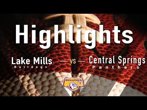 Lake Mills High School Football vs Central Springs Highlights