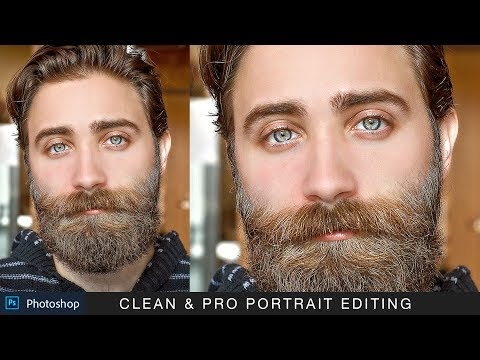 Clean And Pro Portrait - Photoshop Photo Editing Tutorial + Action