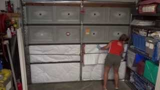 Diy Garage Door Insulation - Easy Way To Save Money $$$