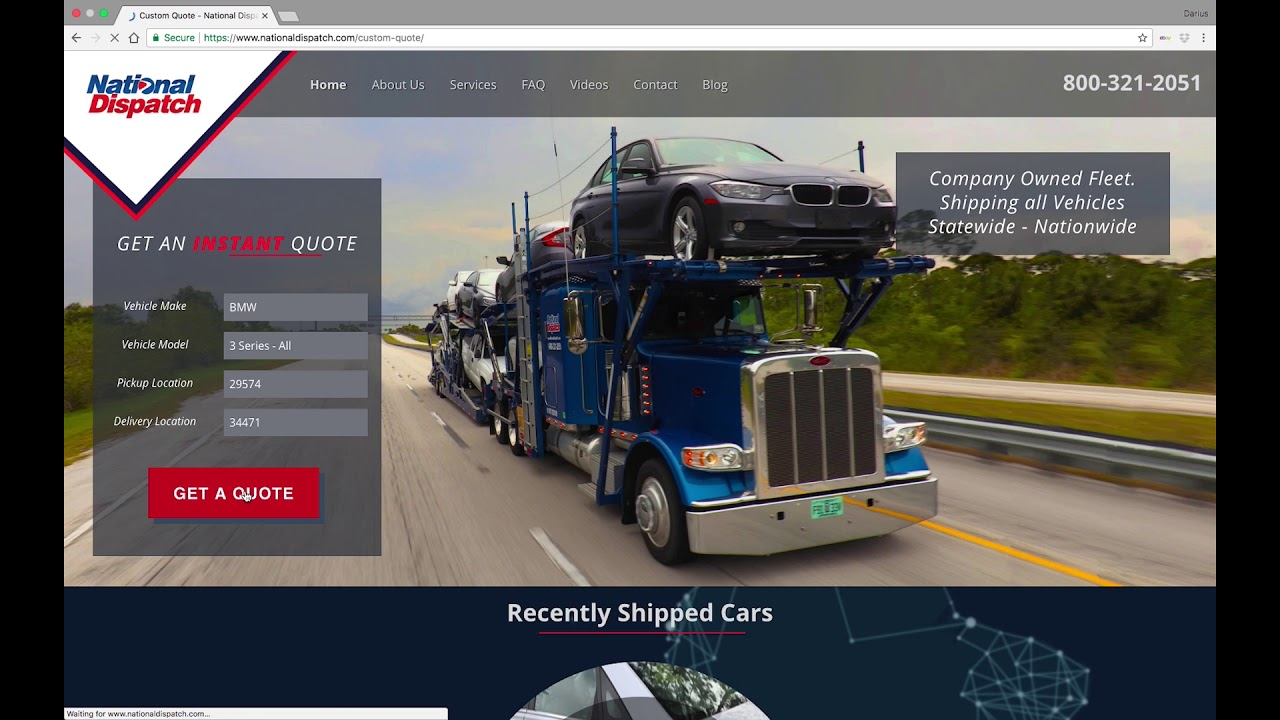 Vehicle Transport Quote Instant Online Quote For Auto Transport Services  National