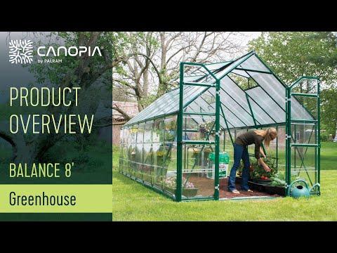 Greenhouse Kit Palram Balance™ 8' Polycarbonate - Optimal & Spacious  Nurturing