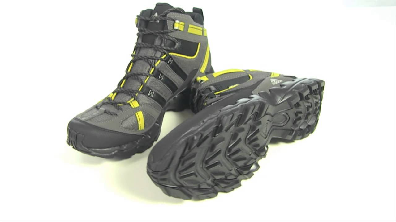 Adidas Outdoor AX 1 Mid Gore-Tex® Hiking Boots - Waterproof - YouTube 8abac857f