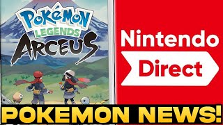 POKEMON NEWS! New Legends Arceus Pre Orders, Nintendo Direct Trademarks and More!