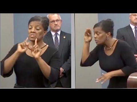 Fake Sign Language Interpreter Delivers Gibberish At Press Conference.