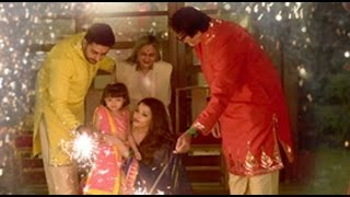 Aaradhya Bachchan and Amitabh Bachchan Celebrated Diwali With Family