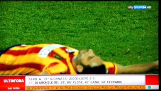 SIENA - GENOA 0 - 2 - -  LECCE - LAZIO 2 - 3   www.calciosocial.com