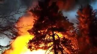 Gambar cover Fire on N. Durette Drive in Otis Oregon 11-14-2014