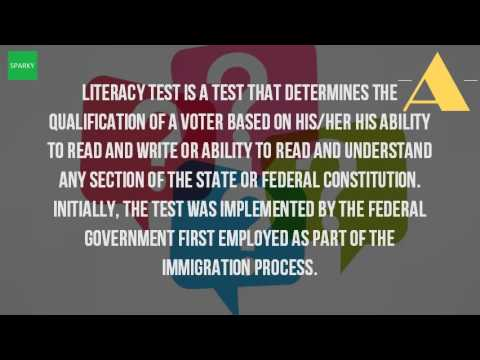 What Is The Definition Of Literacy Tests Youtube