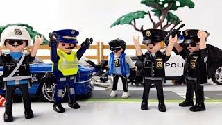 Полицейская погоня за преступником -гонщиком. Playmobil Рolice.