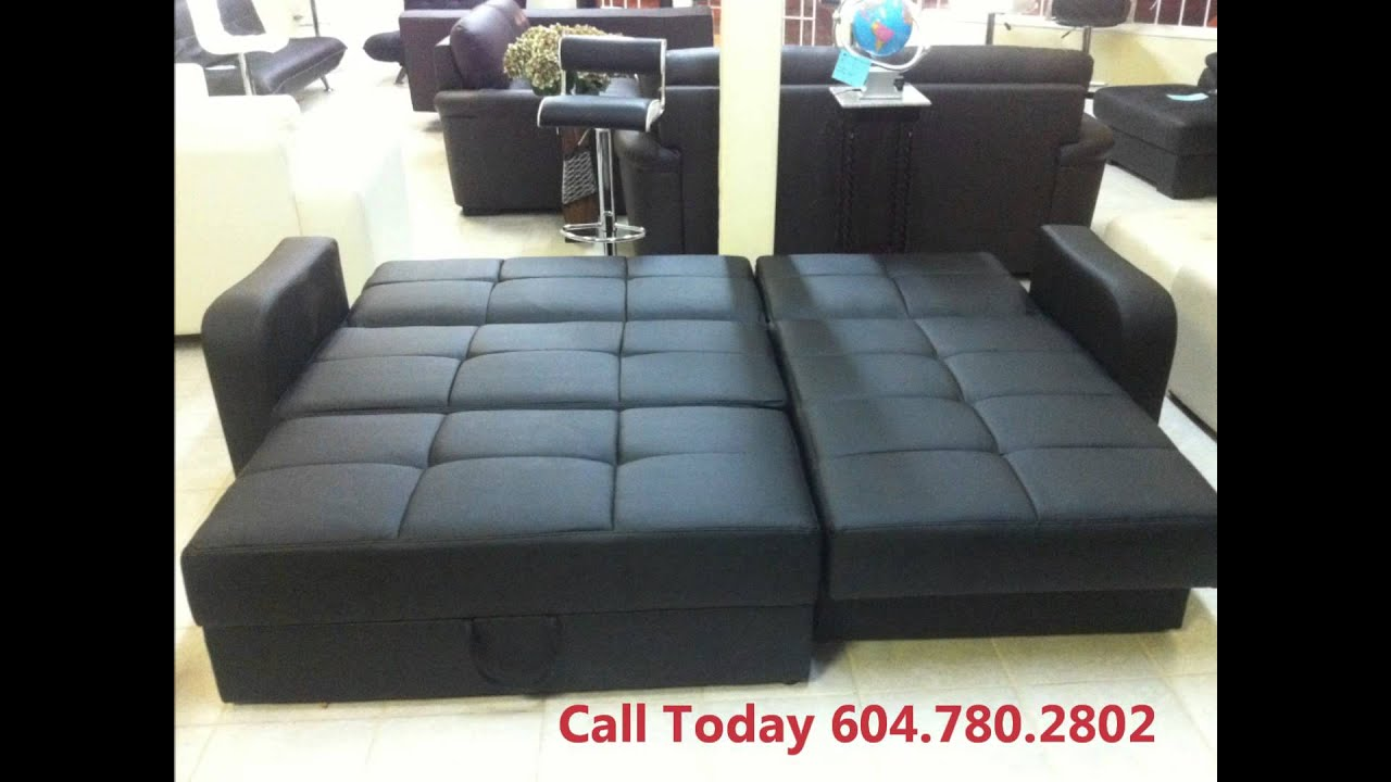 leather sofa bed sale vancouver - youtube