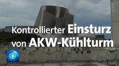 AKW Mülheim-Kärlich: Kühlturm kontrolliert zum Einsturz gebracht