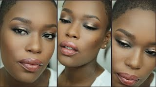 "Bronze Eyes Nude Lips | Vegas Nay ""Stardust Palette"" Look"