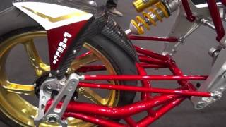 bimota Tesi ハブステアの動き方 構造が解る動画 MOTO CORSEブース Tokyo Motorcycle Show 2017