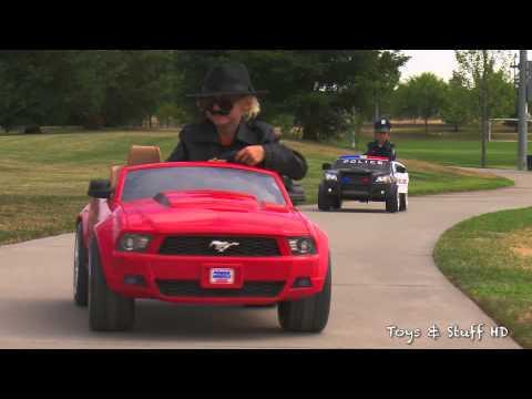 Power Wheels Police Chase and Car Crash - Fire Engine Responding! (Sidewalk Cops Scene)