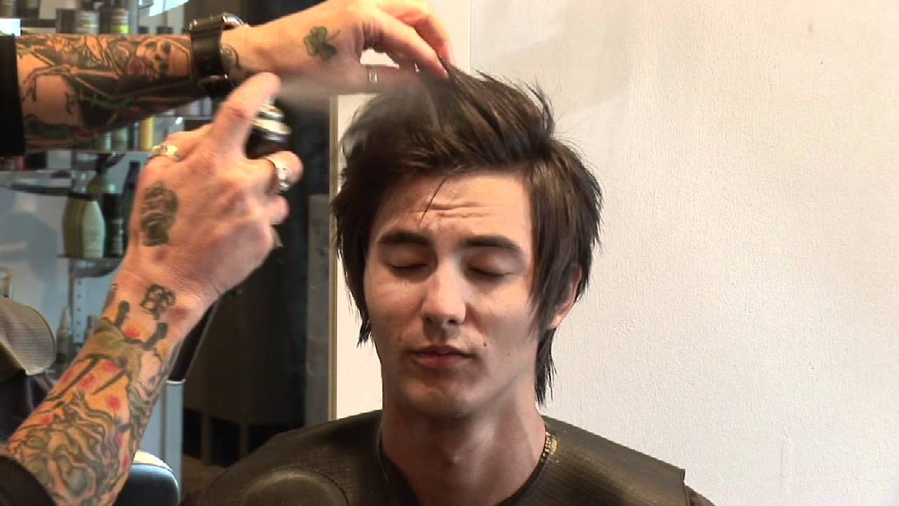 Hair Care For Men : How To Style Medium Hair For Men   YouTube