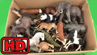 Kid -Kids -Lot of Zoo Wild Animals/Real Safari Videos And Schleich Toys/Learn Colors For Children