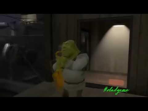 Шрек играет на сексафоне