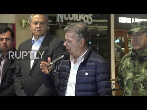 Colombia: 'The culprits will fall,' President Santos says after deadly Bogota mall blast