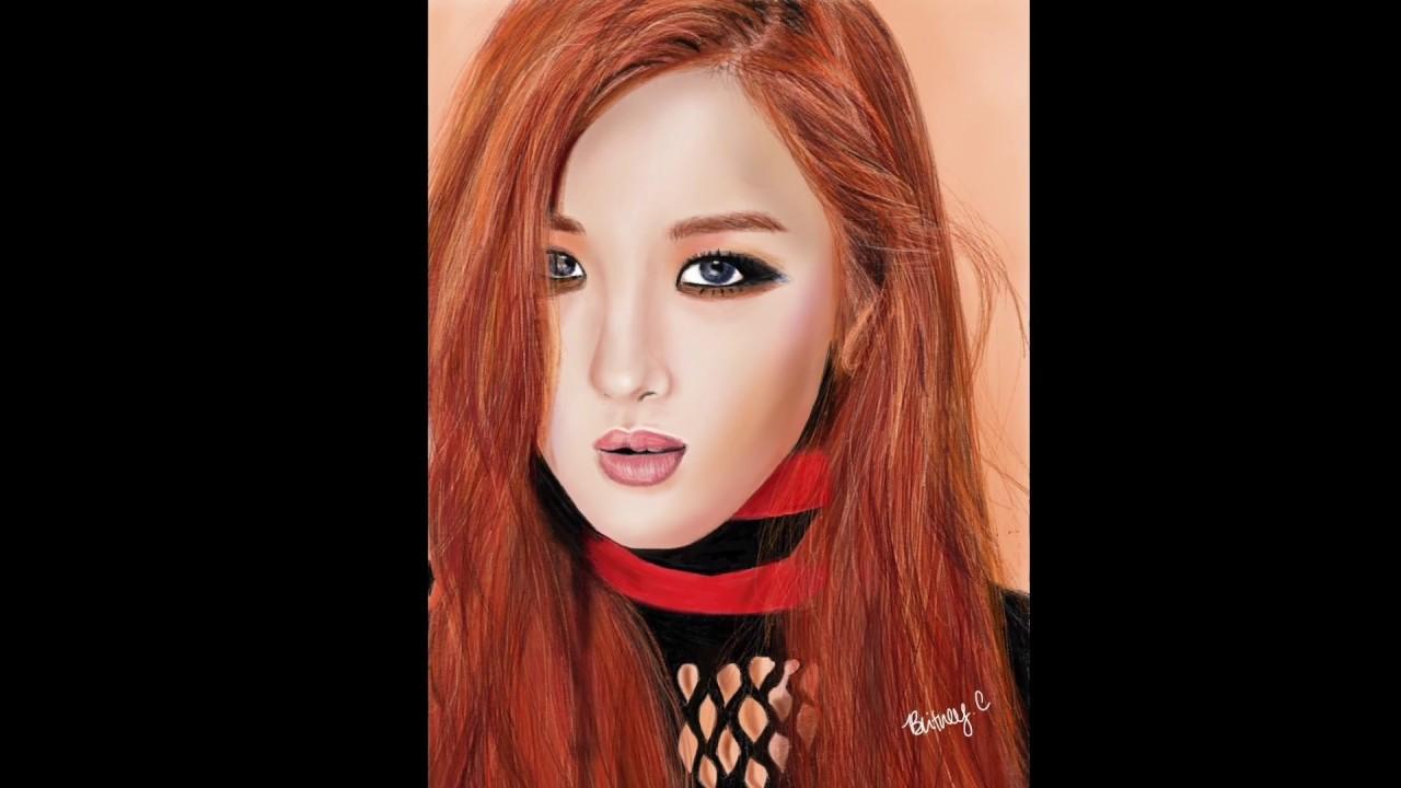 Rose BLACKPINK: BLACKPINK (블랙핑크) Rose (박채영) // Speed Drawing