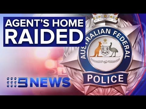 Federal Police Raid Home Of Intelligence Officer In Canberra | Nine News Australia