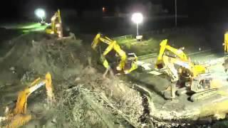 видео В Китае образовалась гигантская пробка на 50-полосном шоссе