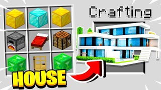How to CRAFT a HOUSE in MINECRAFT!