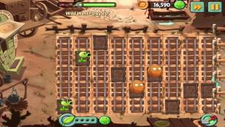 Plants vs Zombies 2: Wild West Day 20 Walkthrough