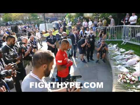 KELL BROOK PAYS RESPECT TO VICTIMS OF MANCHESTER ARENA BOMBING
