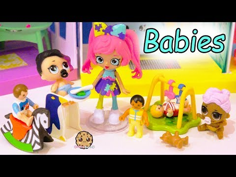 Shoppies Baby Babysitter Babysitting LOL Surprise + Playmobil Babies - Toy Video