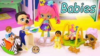 Shoppies Baby Babysitter Babysitting LOL Surprise + Playmobil Babies - Toy Video