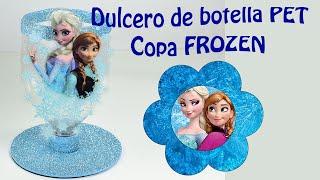Frozen dulcero o centro de mesa con botellas PET | El Mundo de MyG