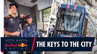 Max Verstappen and Daniel Ricciardo visit Graz