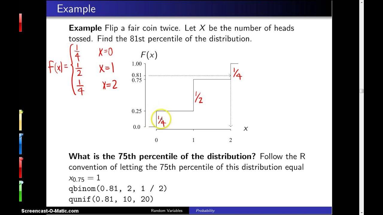 Percentiles -- Example 1