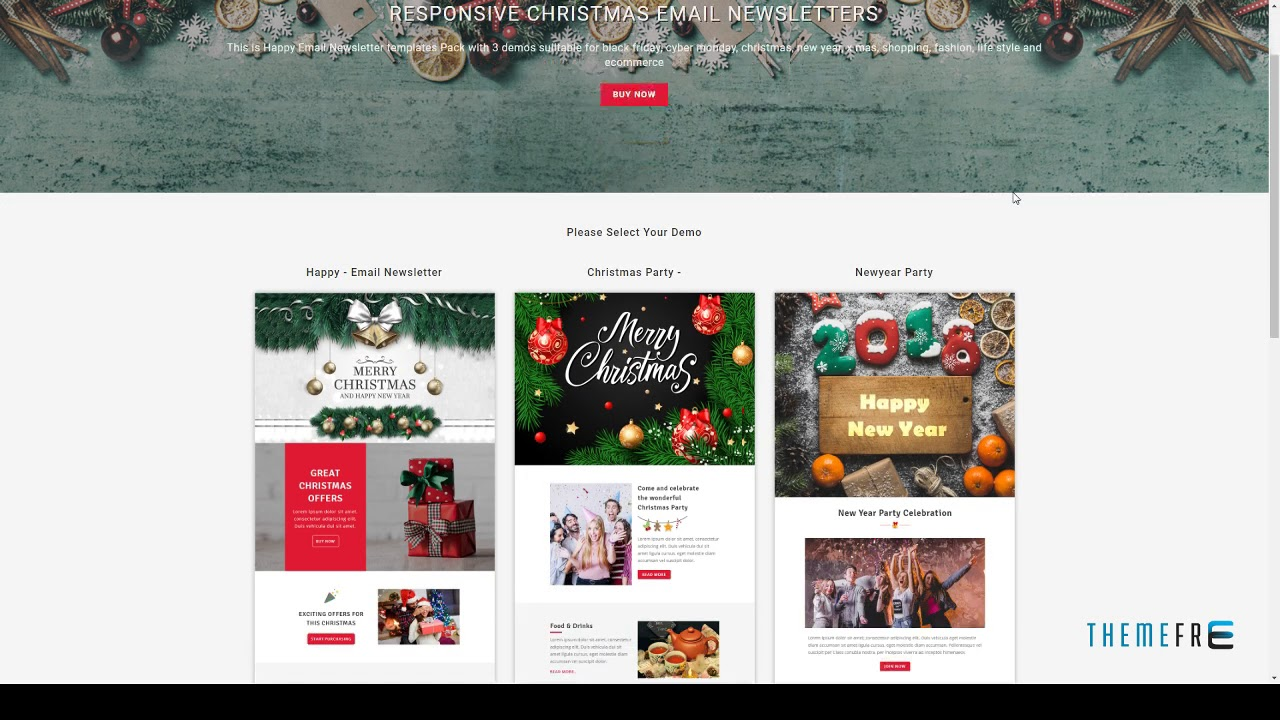 happy responsive christmas and new year email templates with