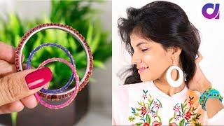 घर के बेकार चीज़ों से बनाए 15 Latest DIY Earrings | Best Out of waste | #Artkala4u