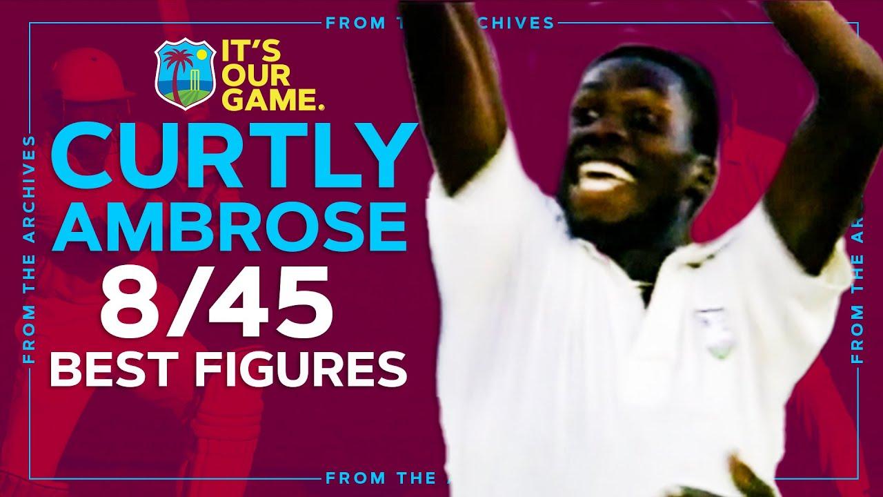 Download Curtly Ambrose Legendary 8/45 v England in 1990!   Best Test Figures!   Windies