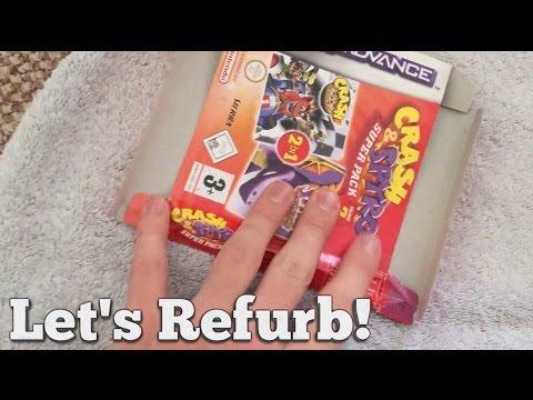 Let's Refurb! - Squashed Gameboy Box Repair!