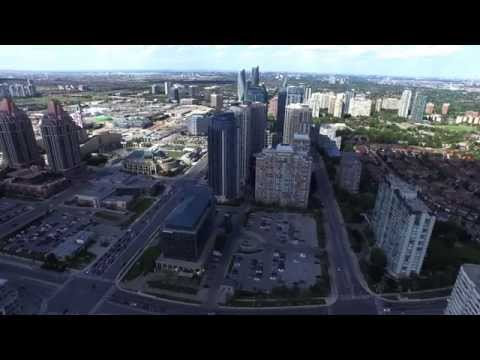 Drone view of Downtown Mississauga as of June 25th,  2015