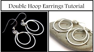 How to Make Double Hoop Dangle Earrings : Easy Beginner Jewelry Tutorial