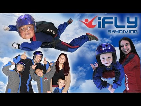 Thumbnail: KIDS GO INDOOR SKYDIVING!! FUNnel Vision Competition @ iFly Dallas, TX (CHALLENGE? Who Flew Better?)