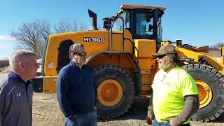 Video still for Jim Farrell of Kohler Pit Inc., Talks About Hyundai HL 960 Wheel Loader