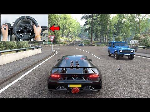 Forza Horizon 4 Lamborghini Sesto Elemento Steering Wheel Paddle