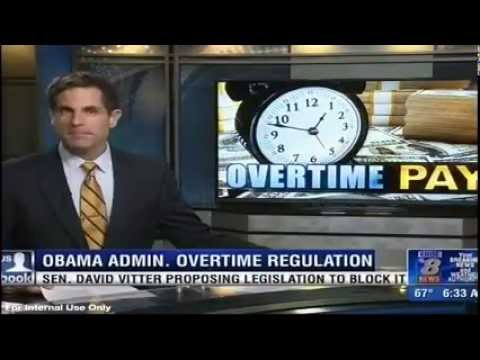 Vitter Discusses DOL's Overtime Rule and Impacts on Small Business, Employees (KNOE)